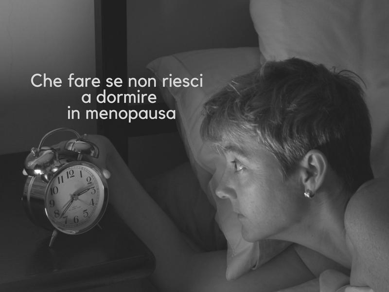 Integratori menopausa e disturbi del sonno